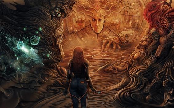 Wallpaper Monster, girl, fantasy picture