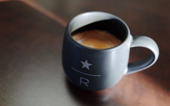 Papéis de Parede Uma xícara de café, bebidas