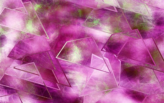 Wallpaper Pink glass, abstract