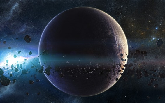 Wallpaper Planets, asteroids, stars, space