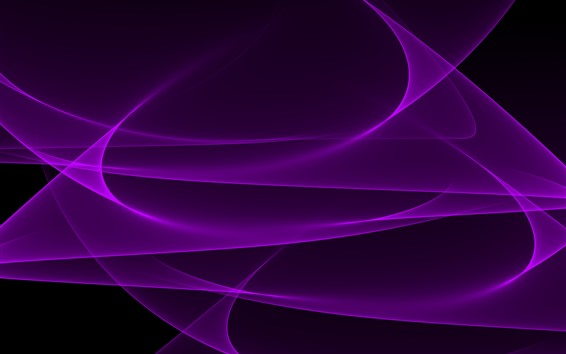 Wallpaper Purple curves, abstract background