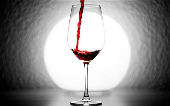 Wallpaper Red wine, glass cup, backlight