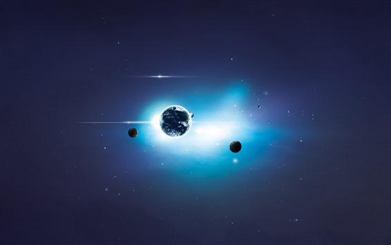 Обои Солнечная система, планеты, вселенная