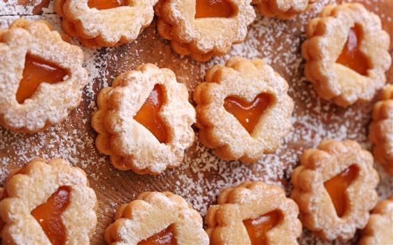 Papéis de Parede Alguns biscoitos, coração de amor