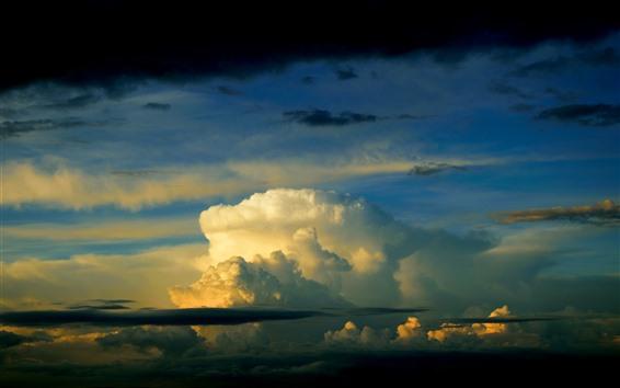 Papéis de Parede Nuvens espessas, céu, crepúsculo
