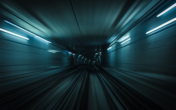 Papéis de Parede Túnel, luzes, velocidade