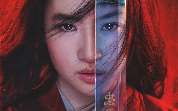 Wallpaper Yifei Liu, Mulan 2020
