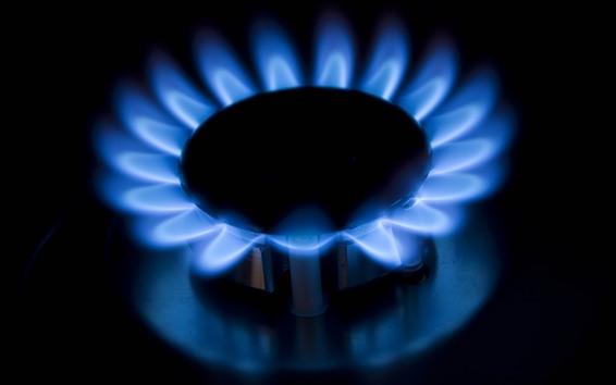 Wallpaper Burner, gas, blue fire, flame