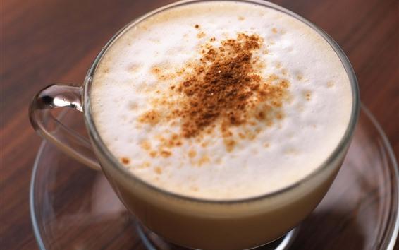 Fond d'écran Cappuccino, mousse, tasse, boissons