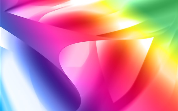 Wallpaper Colorful curves, abstract picture