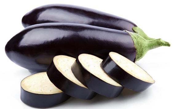 Wallpaper Eggplant, vegetable, white background