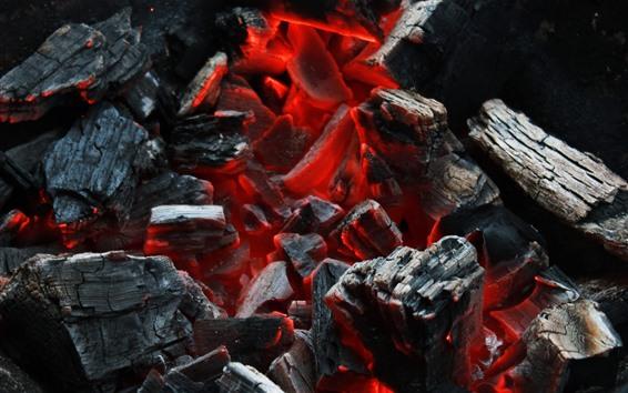 Обои Дрова, угли, сгорание