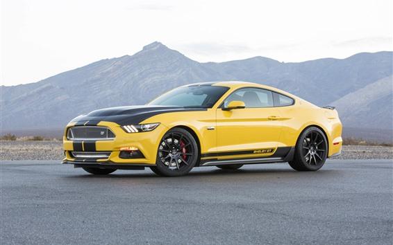 Обои Ford Mustang Shelby GT желтый суперкар