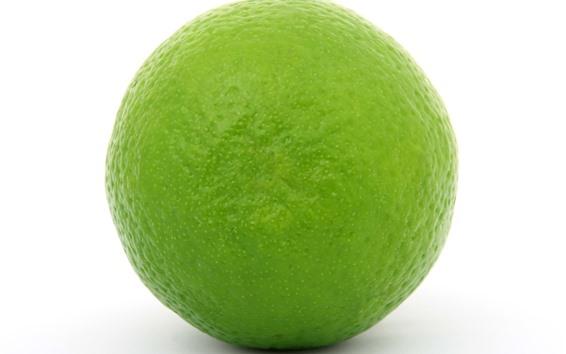 Wallpaper Green lemon, white background