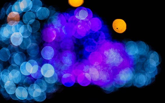 Wallpaper Many light circles, blue, purple, orange
