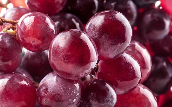 Fond d'écran Gros plan de raisins rouges, fruits frais