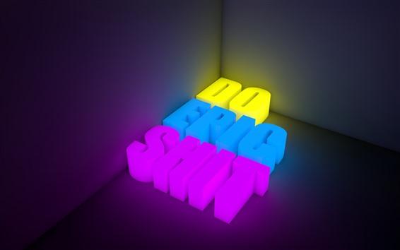 桌布 3D字母,顏色