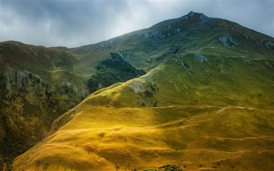 Wallpaper Beautiful mountain scenery, meadow, green