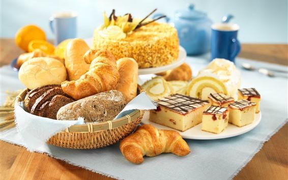 Papéis de Parede Pão e bolo, café da manhã