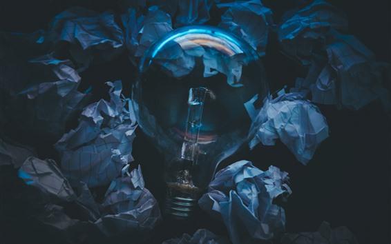 壁紙 電球、紙、暗闇