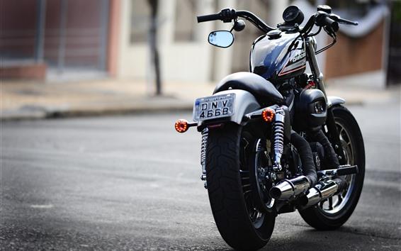 壁紙 ハーレーダビッドソンバイクの背面図