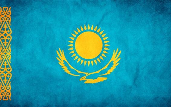 Papéis de Parede Bandeira do Cazaquistão