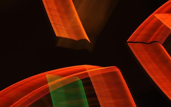 Fondos de pantalla Muchas rayas abstractas, fondo negro