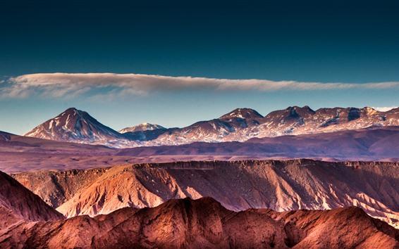 Обои Горы, вершины, скалы, облака