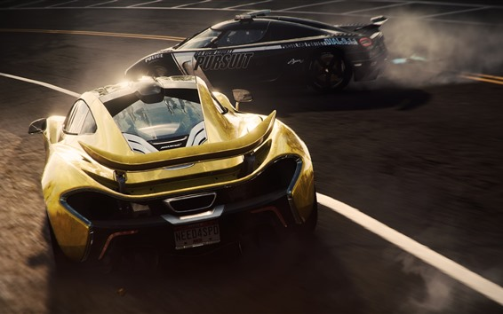 Fondos de pantalla Need for Speed, dos superdeportivos, Mclaren