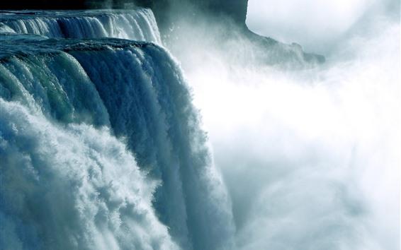 壁紙 ナイアガラの滝、水しぶき、霧