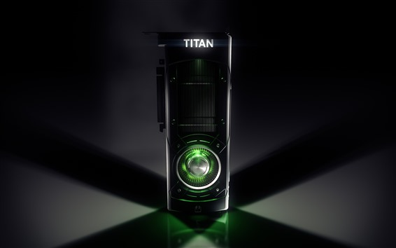 배경 화면 Nvidia Titan 그래픽 카드