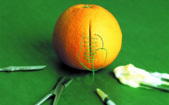 Wallpaper Orange, sewing, creative picture