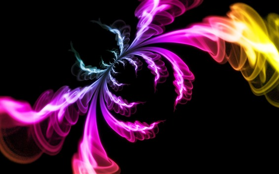 Wallpaper Abstract picture, colorful smoke, like a spider