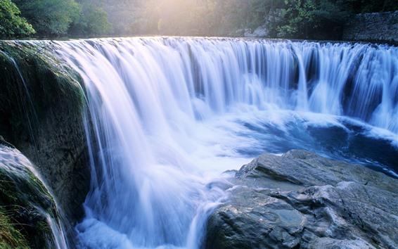 Обои Красивые водопады, камни