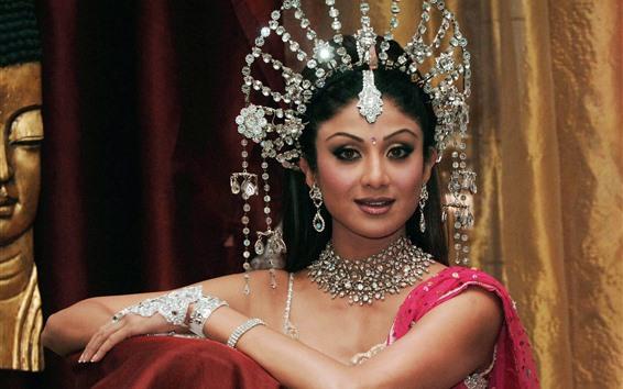 Papéis de Parede Menina indiana, princesa, jóias