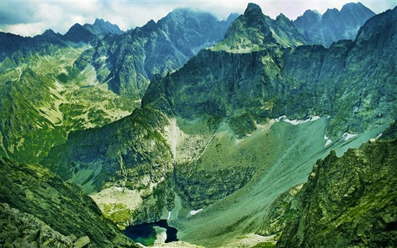 Papéis de Parede Montanhas, vale, altura