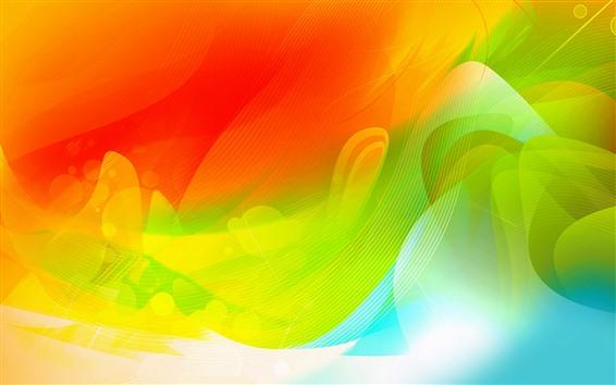 Fond d'écran Courbes rouges et vertes, image abstraite