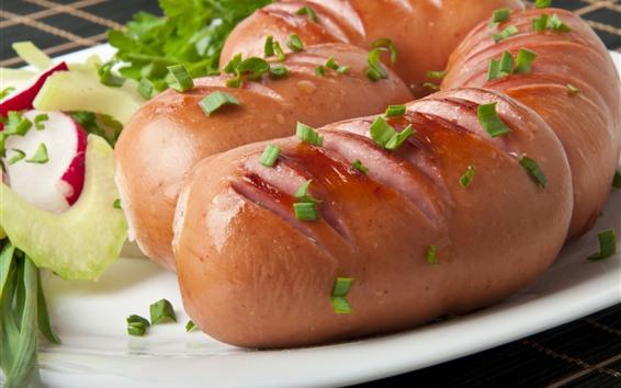 Wallpaper Sausage, food, meat