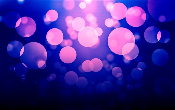 Wallpaper Abstract purple light circles, glare