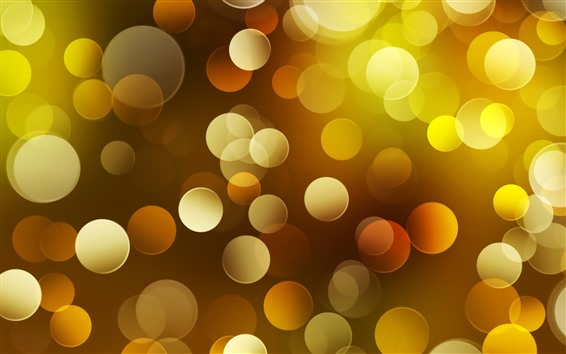 Wallpaper Abstract yellow light circles, bright, shine