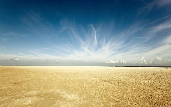 Wallpaper Beach, sea, coast, clouds, sky