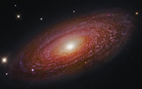Wallpaper Beautiful galaxy, stars, shine, universes