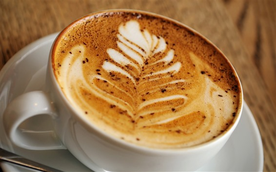 Wallpaper Cappuccino, coffee, cup, drinks