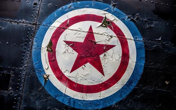 Wallpaper Captain America, shield, logo, graffiti