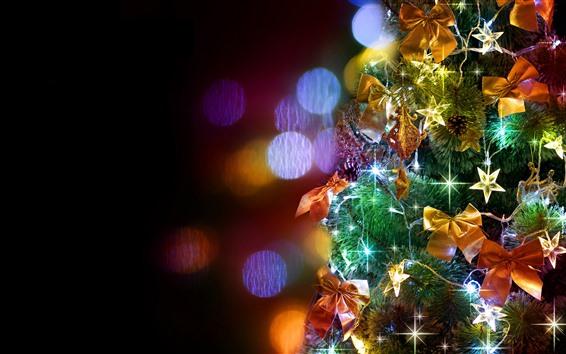 Wallpaper Christmas tree, colorful lights, shine