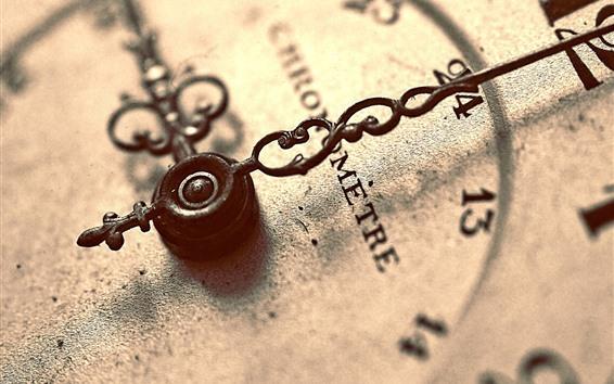 Обои Часы, ржавые, макро фотография