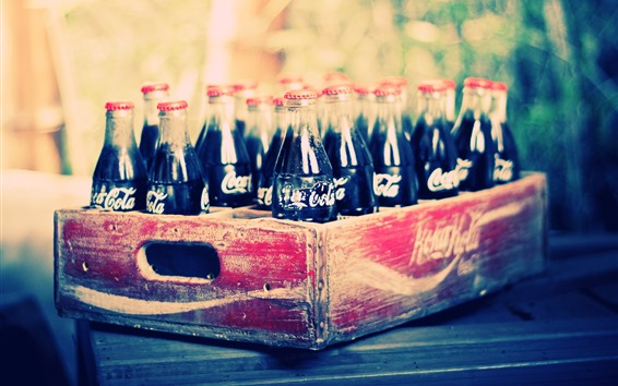 Wallpaper Coca-Cola, bottles, drinks, box