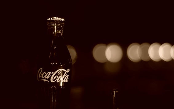 Wallpaper Coca-Cola, drinks, bottle, darkness