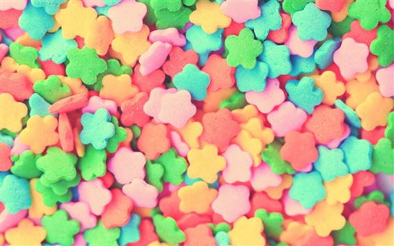 Wallpaper Colorful candy, flowers