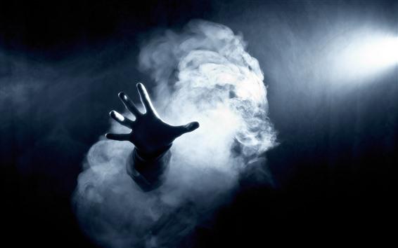 Обои Темно, рука, дым